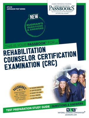 cover image of REHABILITATION COUNSELOR CERTIFICATION EXAMINATION (CRC)