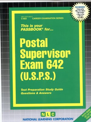 cover image of Postal Supervisor Exam 642 (USPS)