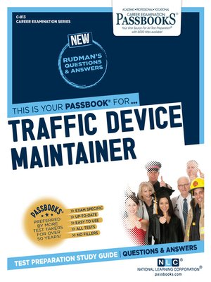 cover image of Traffic Device Maintainer