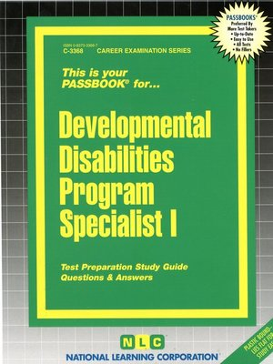 cover image of Developmental Disabilities Program Specialist I