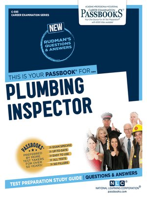cover image of Plumbing Inspector