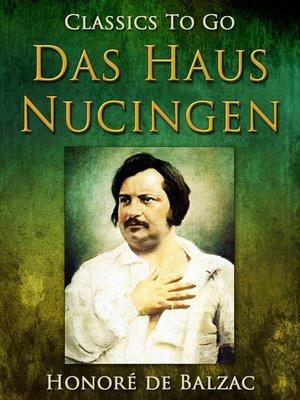 cover image of Das Haus Nucingen