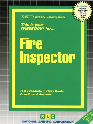 cover image of Fire Inspector