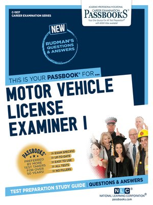 cover image of Motor Vehicle License Examiner I