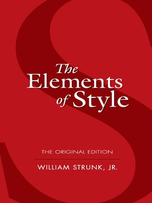 cover image of The Elements of Style