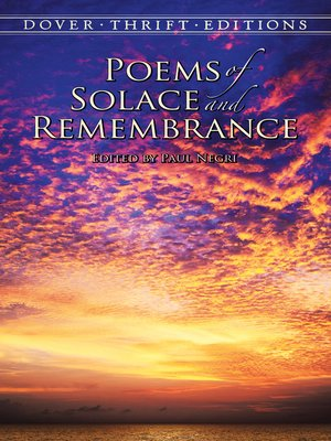 cover image of Poems of Solace and Remembrance