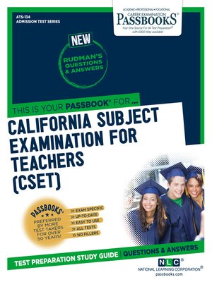 cover image of CALIFORNIA SUBJECT EXAMINATION FOR TEACHERS (CSET)