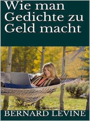 cover image of Wie man Gedichte zu Geld macht