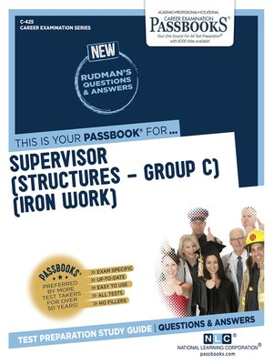cover image of Supervisor (Structures-Group C)(Iron Work)