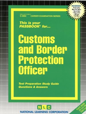 cover image of Customs and Border Protection Officer