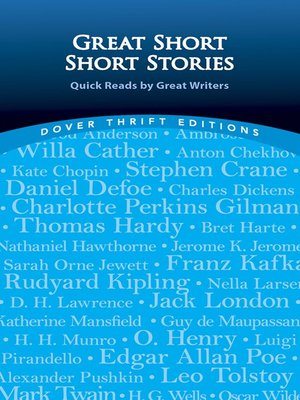 cover image of Great Short Short Stories