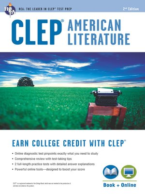 cover image of CLEP® American Literature Book + Online