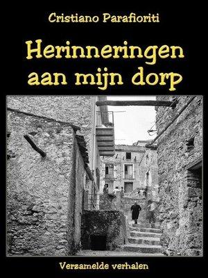 cover image of Herinneringen aan mijn dorp