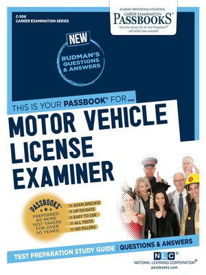 cover image of Motor Vehicle License Examiner