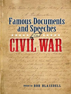 cover image of Famous Civil War Documents and Speeches