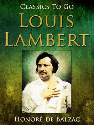 cover image of Louis Lambert