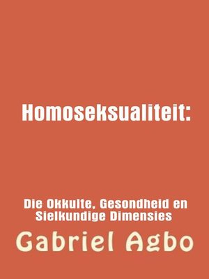 cover image of Homoseksualiteit