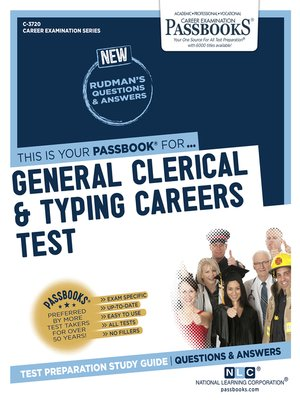cover image of General Clerical & Typing Careers Test