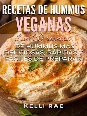 cover image of Recetas de hummus veganas