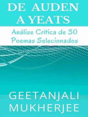 cover image of De Auden a Yeats