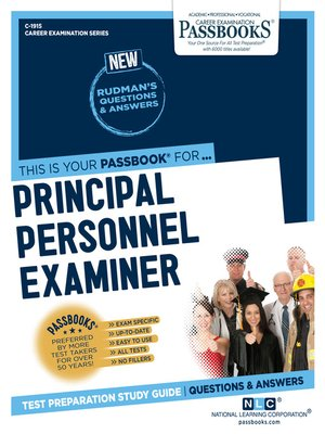 cover image of Principal Personnel Examiner