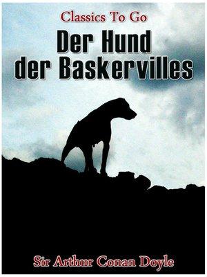 cover image of Der Hund der Baskervilles