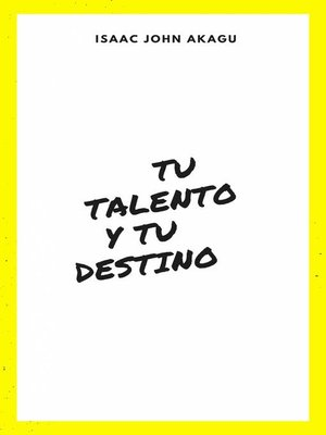cover image of tu Talento y tu Destino