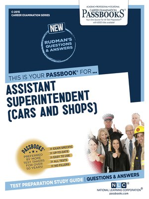 cover image of Assistant Superintendent (Cars and Shops)
