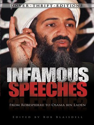 cover image of Infamous Speeches