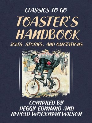 cover image of TOASTER'S HANDBOOK, JOKES, STORIES, AND QUOTATIONS