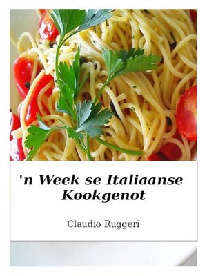 cover image of 'n Week se Italiaanse kookgenot
