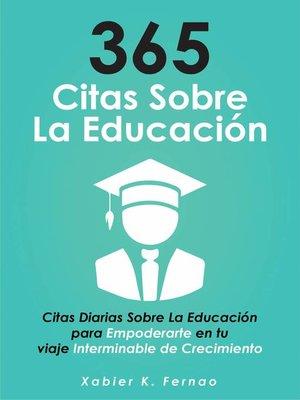 cover image of 365 citas sobre la educación