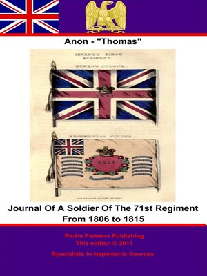 cover image of Journal of a Soldier of the 71st Regiment from 1806 to 1815