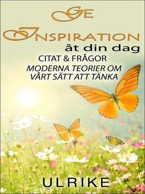 cover image of Ge inspiration till din dag