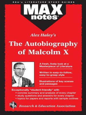cover image of The Autobiography of Malcolm X as told to Alex Haley: MAXNotes Literature Guide