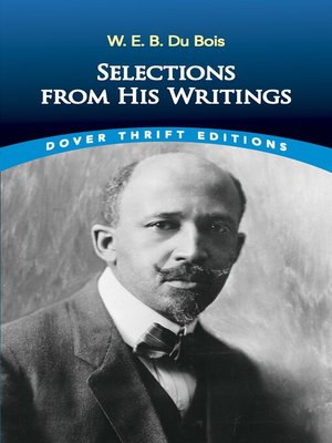cover image of W. E. B. Du Bois