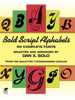 cover image of Bold Script Alphabets
