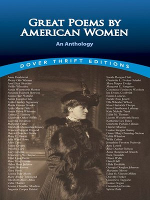 cover image of Great Poems by American Women