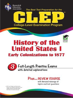 cover image of CLEP History of the United States I