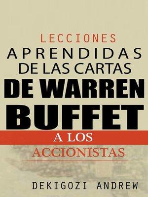 cover image of Lecciones aprendidas de las cartas de Warren Buffet a los accionistas