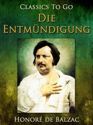 cover image of Die Entmündigung