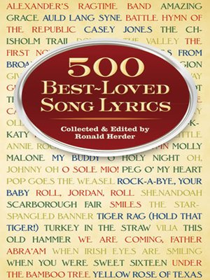 cover image of 500 Best-Loved Song Lyrics