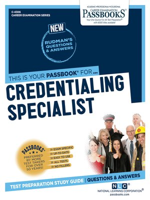 cover image of Credentialing Specialist
