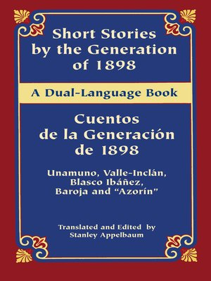 cover image of Short Stories by the Generation of 1898/Cuentos de la Generación de 1898