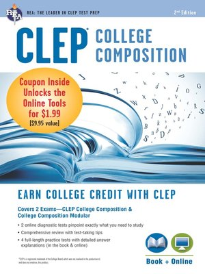 cover image of CLEP College Composition Book + Online