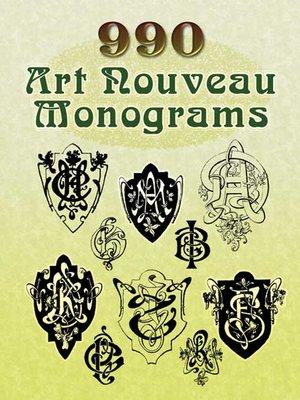cover image of 990 Art Nouveau Monograms