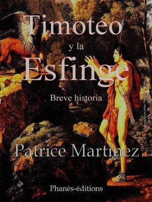 cover image of Timoteo y la esfinge