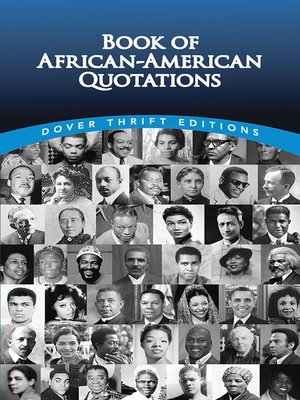 cover image of Book of African-American Quotations