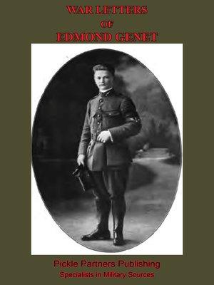 cover image of War Letters of Edmond Genet