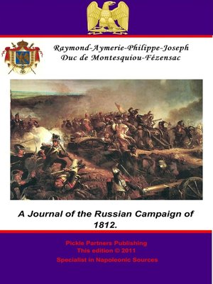 cover image of A Journal of the Russian Campaign of 1812